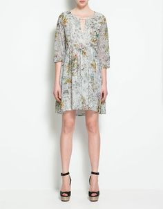 DRESS WITH ASYMMETRIC HEM - Dresses - Woman - ZARA United States