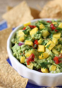 Mango Guacamole with Peppadew peppers @Robin S. Brant Sounds like a good excuse to have more Peppadew martinis!