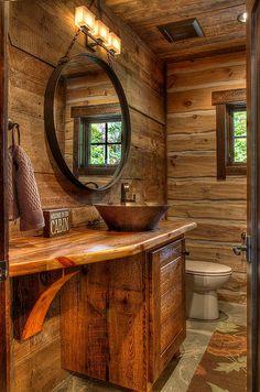 Precious cabin bathroom decor Figures, beautiful cabin bathroom decor for cabin bathrooms ideas 45 rustic and log cabin bathroom 51 log cabin bathroom sets Bathroom Vanity Designs, Rustic Bathroom Designs, Rustic Bathroom Vanities, Diy Bathroom Decor, Simple Bathroom, Bathroom Ideas, Modern Bathroom, Bathroom Cabinets, Bathroom Mirrors