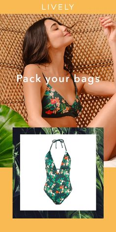 5f33c80dd11f24  NEW  LIVELY Garden Print Series featuring a lush tropical green floral  pattern with red