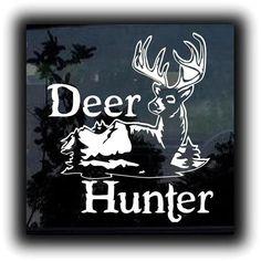 Deer Hunter Scene Hunting Decals  http://customstickershop.com/Deer-Hunter-Scene-Hunting-Decals-P4945978.aspx
