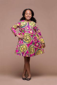 AFRICAN PRINT LOMO KID'S DRESS