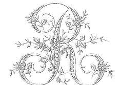 R monogram for quilling