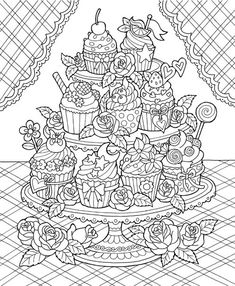 The Best of ColorIt Adult Coloring Book - Features 30 Original Hand Drawn Designs Printed on Artist Quality Paper with Hardback Covers, Spiral Binding, Perforated Pages, and Bonus Blotter by ColorIt Spiral-bound – Cute Coloring Pages, Printable Adult Coloring Pages, Mandala Coloring Pages, Coloring For Kids, Coloring Sheets, Coloring Books, Cupcake Coloring Pages, Colorful Drawings, Doodles