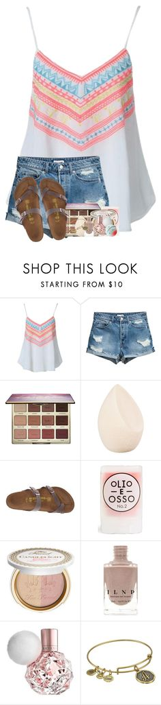 """baby let me love you goodye"" by betterbeliebitsemcaniff ❤ liked on Polyvore featuring tarte, Christian Dior, Birkenstock, Olio E Osso, Too Faced Cosmetics and Alex and Ani"