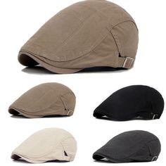 Men s Cotton Vintage Gatsby Cap Golf Driving Flat Cap Cabbie Newsboy Hat hot 5434b52edd56