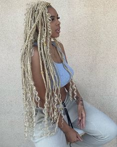 Blonde Goddess braids hairstyle perfect for summer time slay. Blonde Goddess braids hairstyle perfect for summer time slay. African American Braided Hairstyles, African American Braids, African Braids Hairstyles, Protective Hairstyles, Braid Hairstyles, Cornrolls Hairstyles Braids, Goddess Hairstyles, Protective Styles, Blonde Box Braids