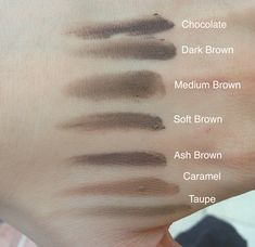 Anastasia Dipbrow Pomade in Chocolate, Dark Brown, Medium Brown, Soft Brown, Ash Brown, Caramel, Taupe