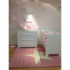 Kindervloerkleed ster roze
