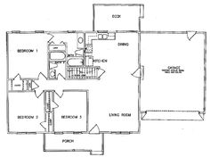 1200 Sq ft - House Plan 45269 at FamilyHomePlans.com 3 bedroom 2 bath