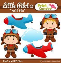 Little Pilot (Red & Blue) - Print Candee
