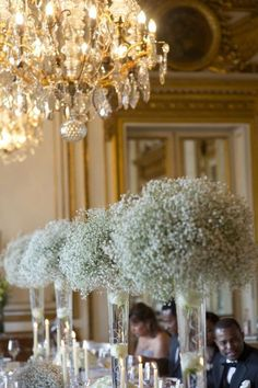 Baby's breath centerpieces, Inspiration for Mobella Events, Wedding Planner Orlando, Wedding Planner St. Petersburg, www.mobellaevents.com
