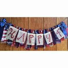 Fourth of July burlap banner Burlap Banner July by QueensBanners