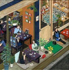 Zeichnungen: Paige Jiyoung Moon https://www.langweiledich.net/zeichnungen-paige-jiyoung-moon/