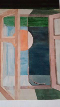 "Óleo sobre lienzo, título ""Amaneciendo"" por Javier Vega Regueiro."