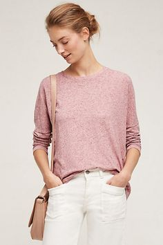 Button-Back Linen Tee #anthropologie