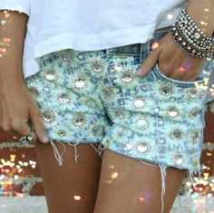 DIY shorts brought to life by The Fashion Drug