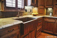 beautiful copper sink - kitchen tour- lizmarieblog.com