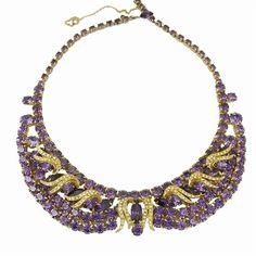 Vintage Hobe faux amethyst necklace.