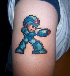8-bit tattoo | Mega Man