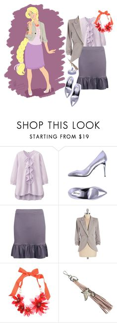 """""""Professional Rapunzel"""" by snowj ❤ liked on Polyvore featuring Uniqlo, Just Cavalli, Boohoo, Lanvin and Sam Edelman"""