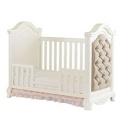 The Addison Toddler Guard Rail Kit from is designed to transform your Addison Upholstered Crib (sold separately) into a sweet and saf. Upholstered Crib, Crib Rail, Baby Cribs, Pearl White, Toddler Bed, Nursery, Bedroom, Kit, Furniture