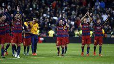 Las celebraciones en el Bernabéu   FC Barcelona