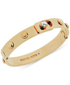 Michael Kors Crystal Stud Bangle Bracelet - All Fashion Jewelry - Jewelry & Watches - Macy's