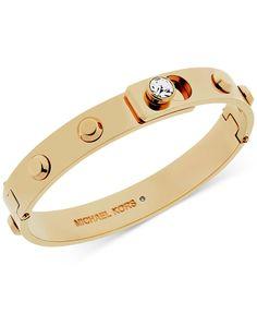 Michael Kors Crystal Stud Bangle Bracelet - All Fashion Jewelry - Jewelry & Watches - Macy's