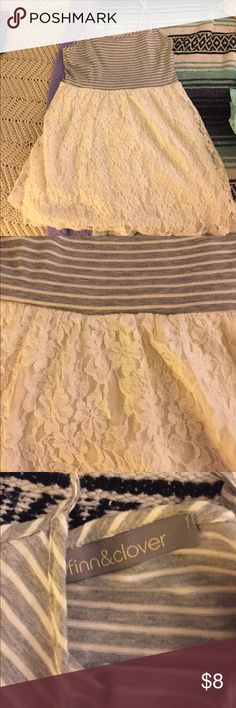 Lace and stripped dress size medium Lace and stripped dress size medium finn & clover Dresses