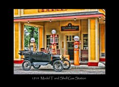 Model T Shell gas staion