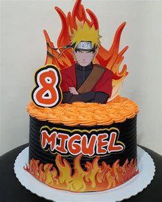 Naruto Birthday, Pokemon Birthday Cake, Superhero Birthday Cake, Birthday Themes For Boys, Bolo Do Naruto, Bolo Flash, Naruto Party Ideas, Spiderman Cake Topper, Brithday Cake