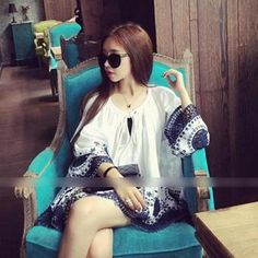 Buy 'QZ Lady – Ethnic Oversized Tunic' with Free International Shipping at YesStyle.com. Browse and shop for thousands of Asian fashion items from China and more!