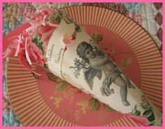 Valentine paper cone with angel