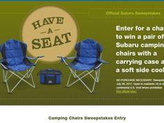 Subaru Camping Chairs Sweepstakes