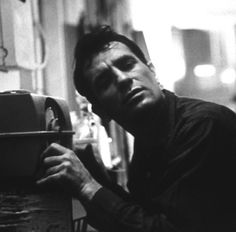 Jack Kerouac listens to himself reading on the radio in 1959.