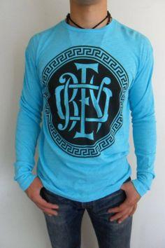 Camisa azul manga larga marca OBEY