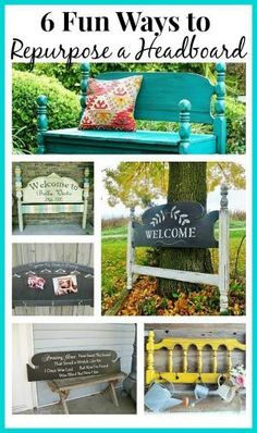 DIY Headboard Ideas - 6 awesome ways you can re-use an old headboard by francisca