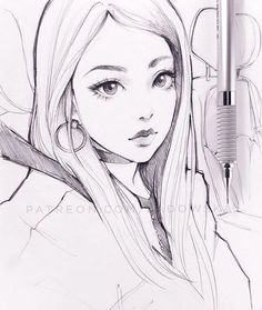 pencil warm up from photo. Anime Drawings Sketches, Pencil Art Drawings, Anime Sketch, Manga Drawing, Manga Art, Cute Drawings, Really Cool Drawings, Character Drawing, Art Tutorials