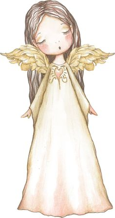 The Anxious Therapist Angel Wings Painting, Angel Artwork, Angel Drawing, Christmas Drawing, Christmas Paintings, Christmas Angels, Christmas Art, Angel Illustration, I Believe In Angels