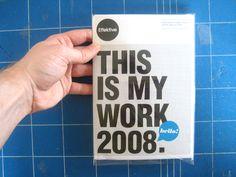 Effektive CV/Poster Mailer by Greig Anderson, via Behance
