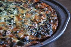 Swiss Cheese Spinach and Mushroom Quiche with Crispy Potato Crust