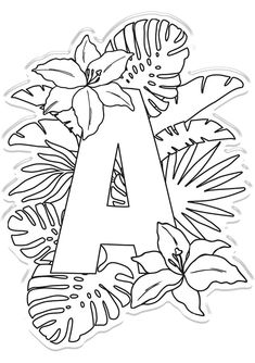 Crafter's Companion Clear Acrylic Stamp - Letter A Embroidery Designs, Embroidery Patterns Free, Embroidery Stitches, Art Patterns, Quilling Patterns, Quilling Designs, Art Drawings Sketches, Easy Drawings, Colouring Pages