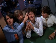 """Pictures from The Monkees episode """"Monkees on the Wheel"""" with Davy Jones, Micky Dolenz, Peter Tork, and Mike Nesmith. Pop Rock Bands, Cool Bands, My Only Love, First Love, Magic Fingers, Michael Nesmith, Peter Tork, Radio Personality, Davy Jones"""