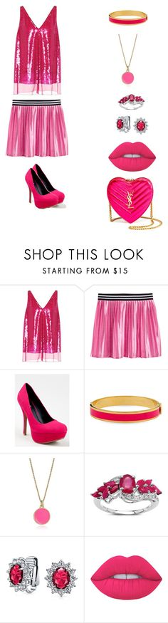 """""""fashion"""" by garnetthesavage ❤ liked on Polyvore featuring STELLA McCARTNEY, Qupid, Halcyon Days, Kate Spade, Malaika, Bling Jewelry, Lime Crime and Yves Saint Laurent"""