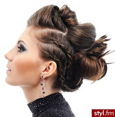 hair updo braids