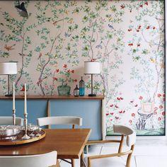 #decasapramodablog #decasapramodainspira #interiortoinspire #wallpaper #flowers #habitacion #arqideia #decoronline #picoftheday