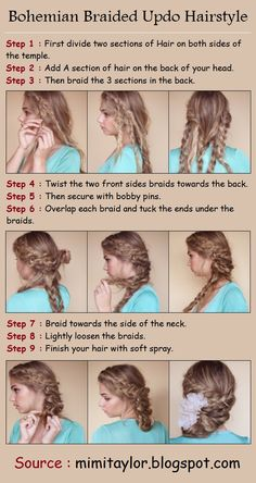 Bohemian Braided Updo Hairstyle | PinTutorials  If I ever have way too much time on my hands