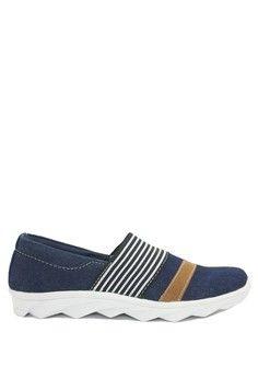Wanita > Sepatu > Slip On > Dr. Kevin Women Flat Shoes Slip On 43206 - Navy/Tan > Dr. Kevin