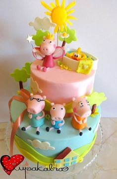 Peppa pig cake - totally fabulous!!!!